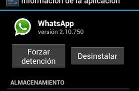 Detención de WhatsApp