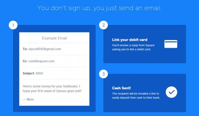 Aplicación Square Cash: enviar dinero por email