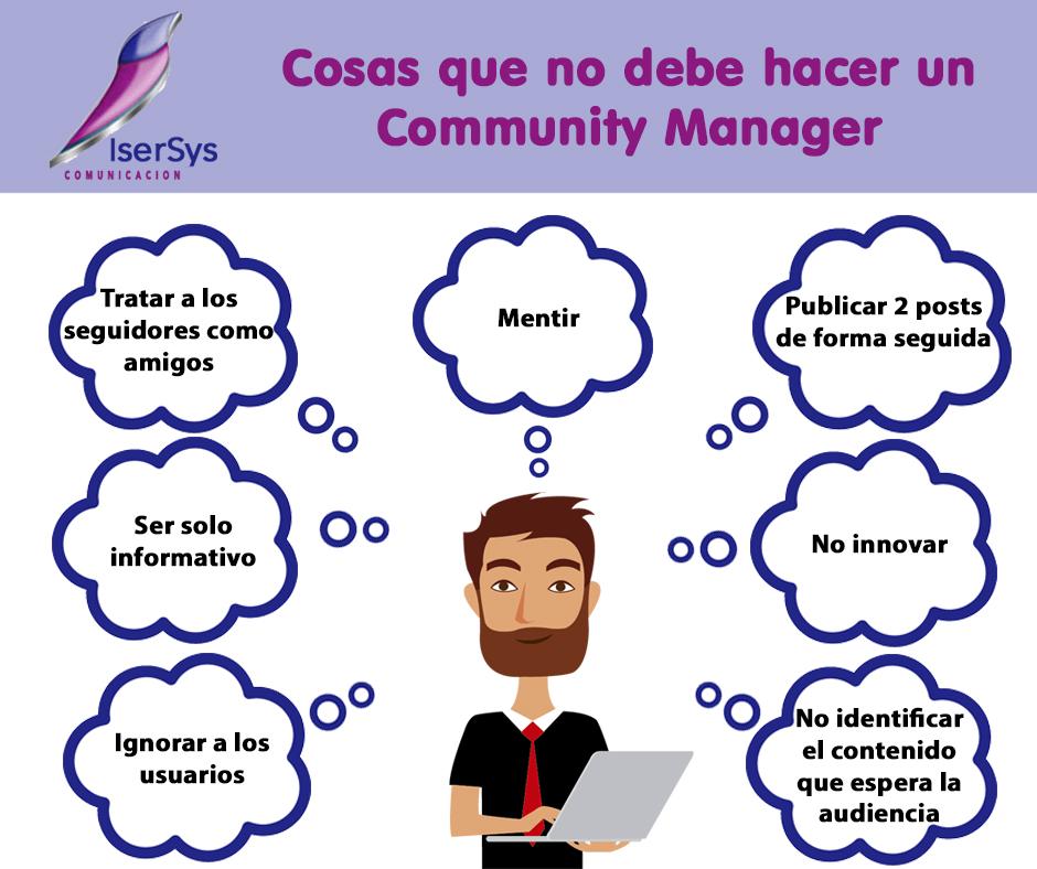 7 cosas que no debe hacer un Community Manager